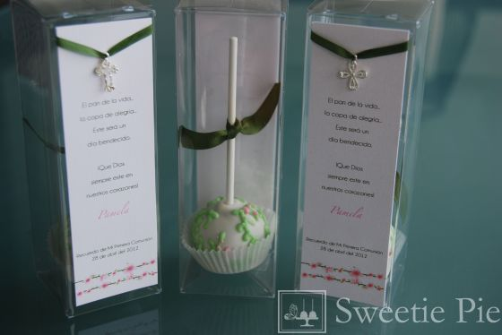 First Communion Cake Pop Favor